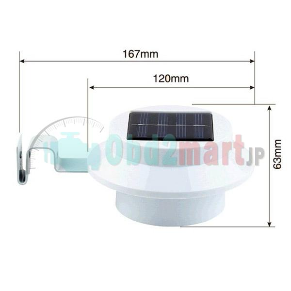 Solar Powered 3Led Lawn Fence Gutter Light Outdoor Garden Yard Wall Pathway Lamp 4pc/lot