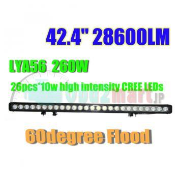 "42.4"" 260W CREE LED LIGHT BAR SPOT PENCIL WORK LIGHT 4WD BOAT UTE DRIVING LIGHT"