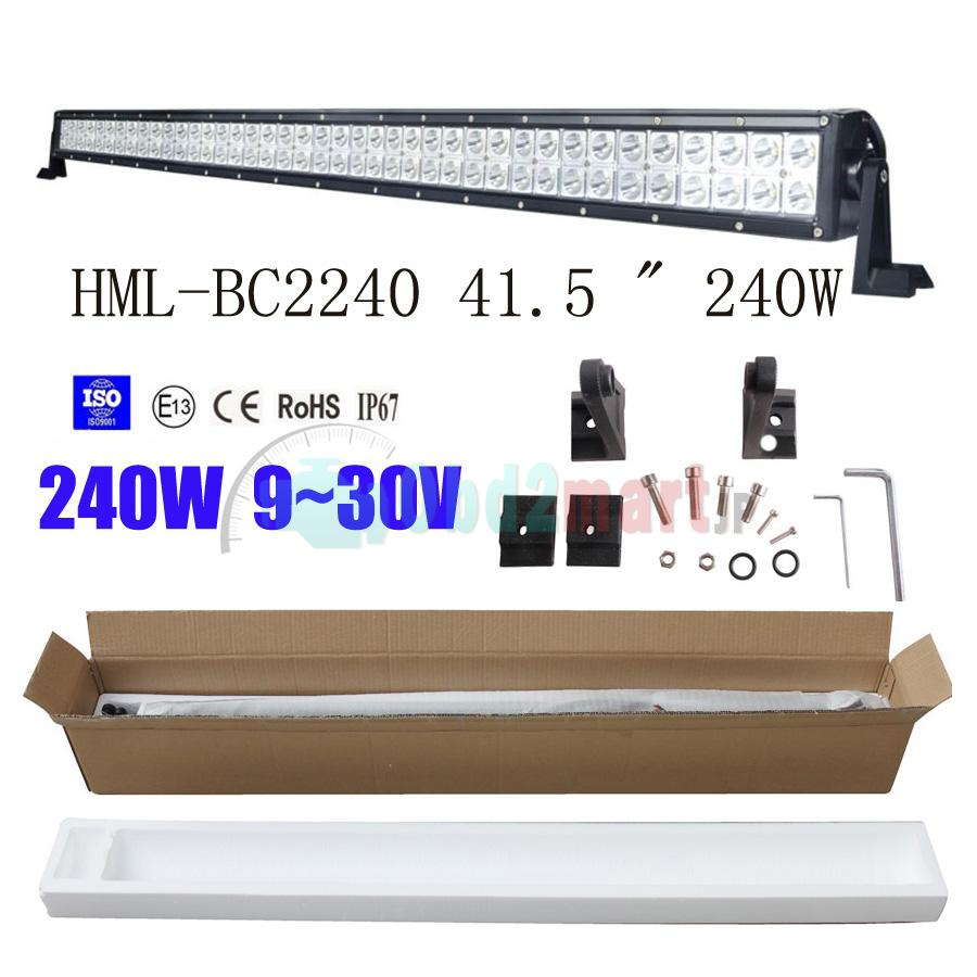2013 240W 41.5 inch CREE Led light bar FLOOD light SPOT light WORK light off road light 4wd boat white