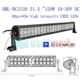 "HML-BC2120 24"" 120w CREE Led light bar FLOOD light SPOT light WORK light off road light 4wd boat 12V 24V"