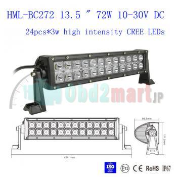2013 72W CREE Led light bar FLOOD light SPOT light WORK light off road light 4wd boat white