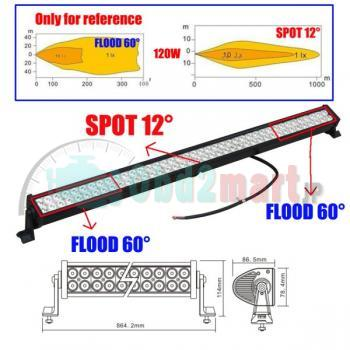 42&240W Led Light Bar Work Light Flood & Sport Combo 4WD Boat UTE Driving Lamp