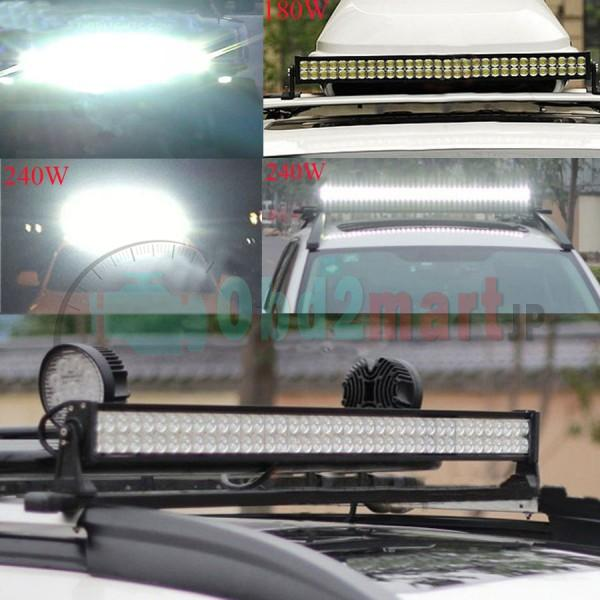New 33&180W Flood Spot Led Alloy Word Light Bar 4WD Boat UTE Driving Save