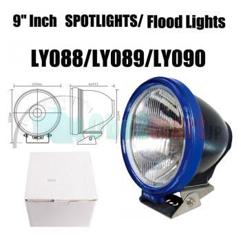"55W 9""Inch HID XENON DRIVING LIGHTS SPOTLIGHTS / Flood Lights OFFROAD Lights 6000K 12V"