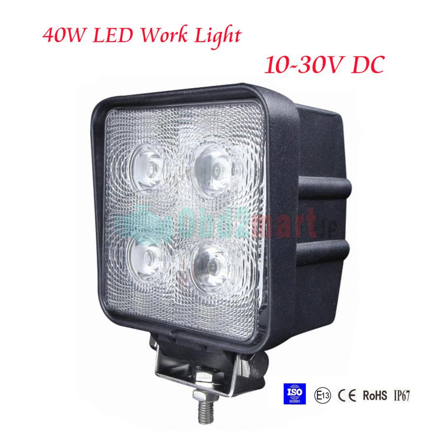 4pcs 40W LED Work Light Lamp Off Road Rhino Polaris Truck 4x4 4WD Jeep Boat Spot