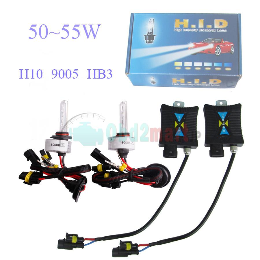 SLIM XENON HID KIT H10 9005 HB3 6000K