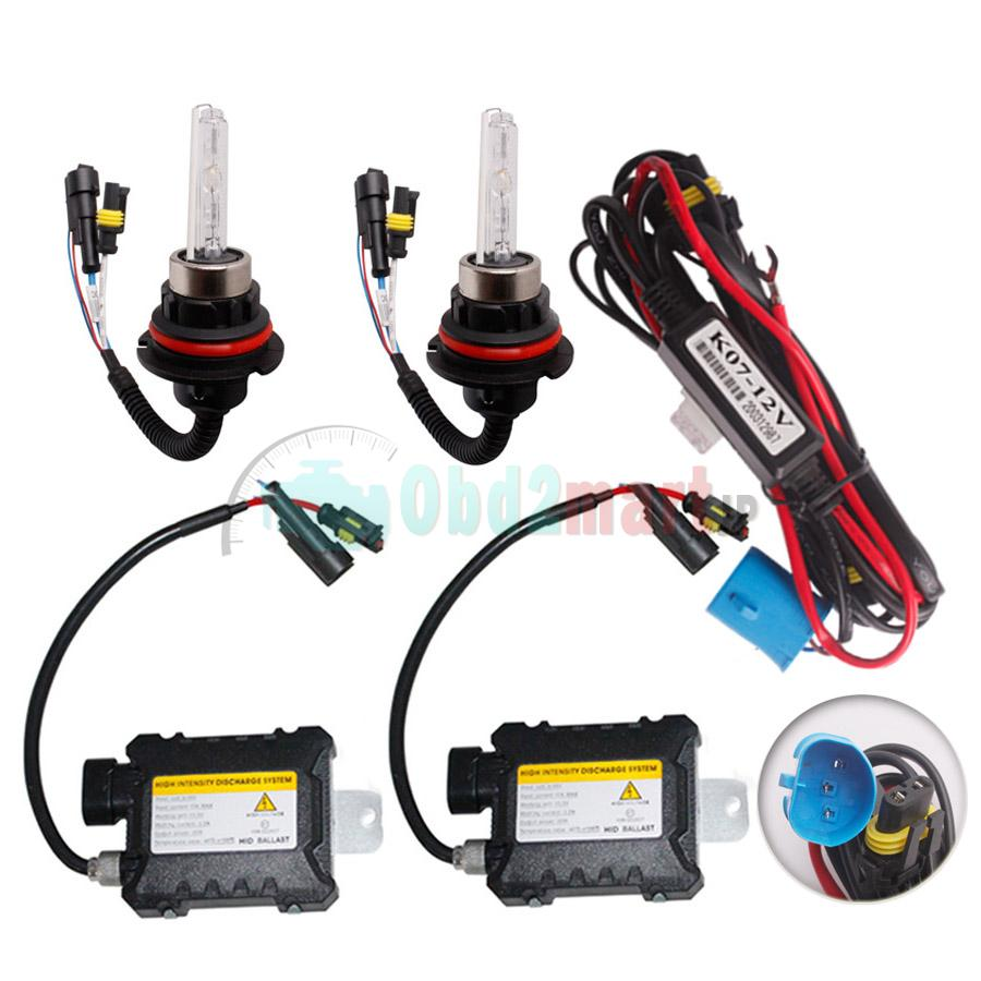 35~45W 9004 9007 H4 H13 Bi-xenon HID KIT xenon High/Low 3000K 6000K 8000K 10K 12K 15K