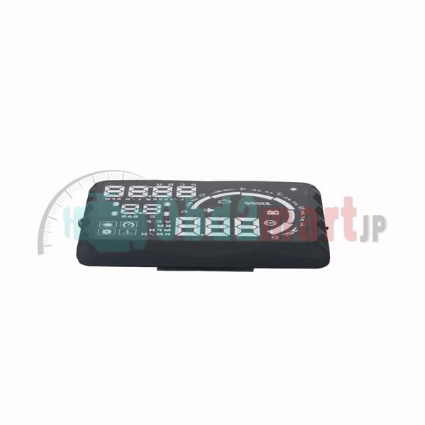 New 5.5&LED OBD-II HUD Head Up Display Over Speeding warning/speed/Km rpm/shift light/temperature S5