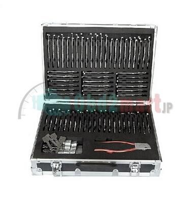 Locksmith LISHI 2 in 1 Auto Pick and Decoder Kit 77pcs/set