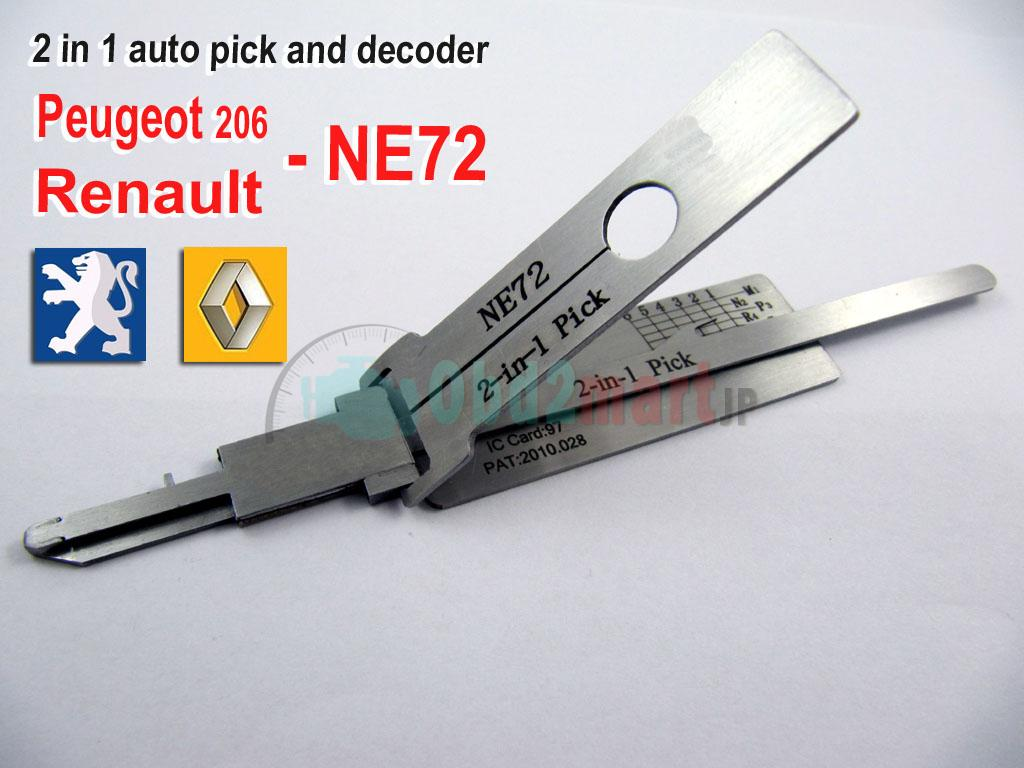 Peugeot 206 & Renault 2 in 1 auto pick and decoder